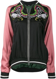 Diesel embellished bomber jacket in satin