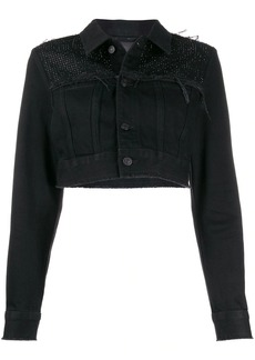 Diesel embellished cropped denim jacket