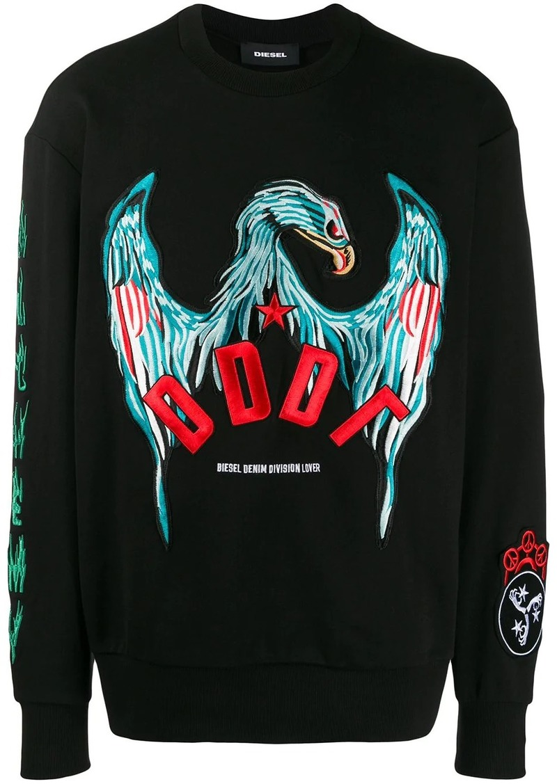 Diesel embroidered eagle sweatshirt
