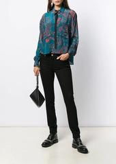 Diesel embroidered fitted shirt