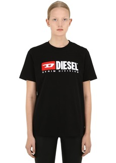 Diesel Embroidered Logo Cotton Jersey T-shirt