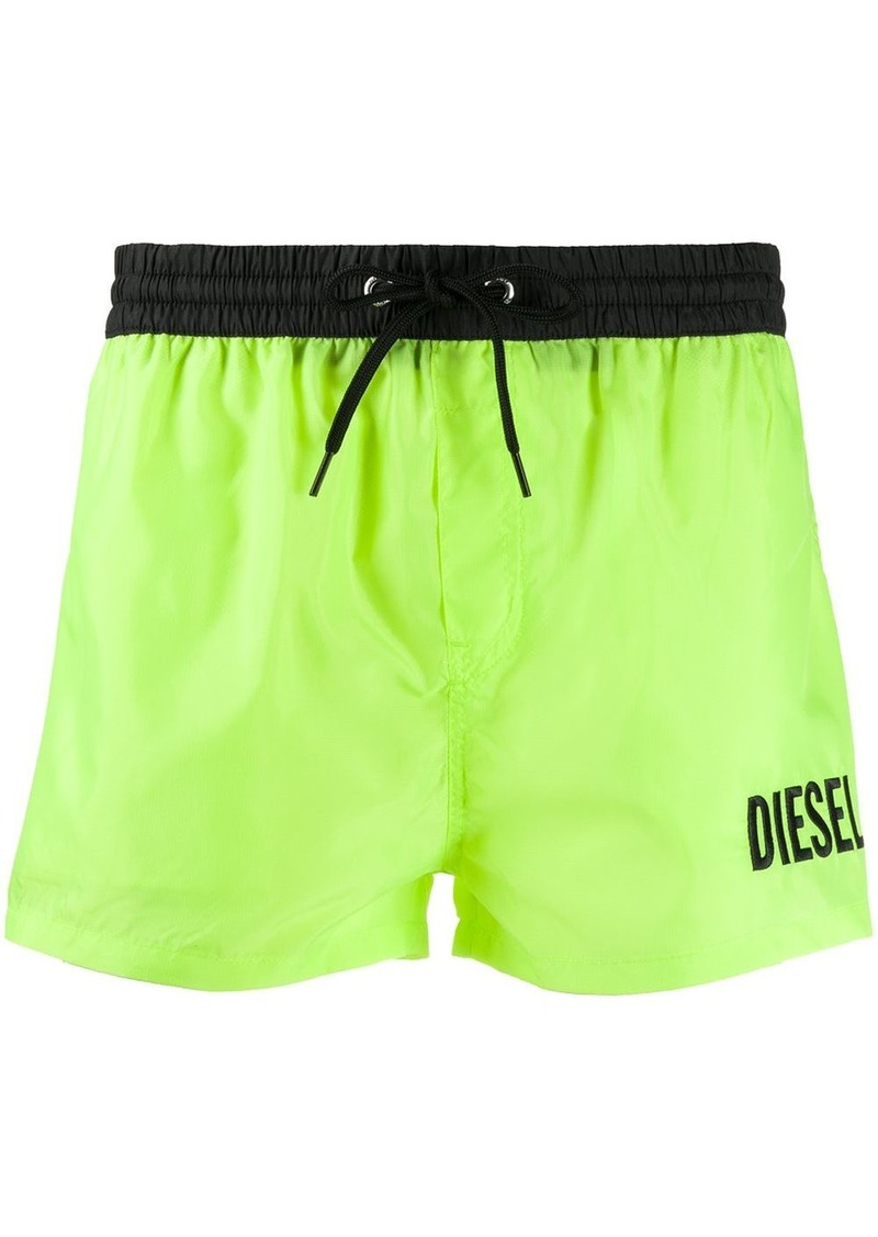 Diesel embroidered logo swim shorts