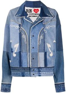 Diesel embroidered patchwork denim jacket