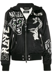 Diesel embroidered satin bomber jacket
