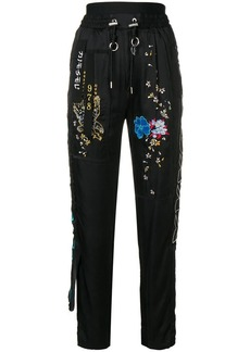 Diesel embroidered track trousers