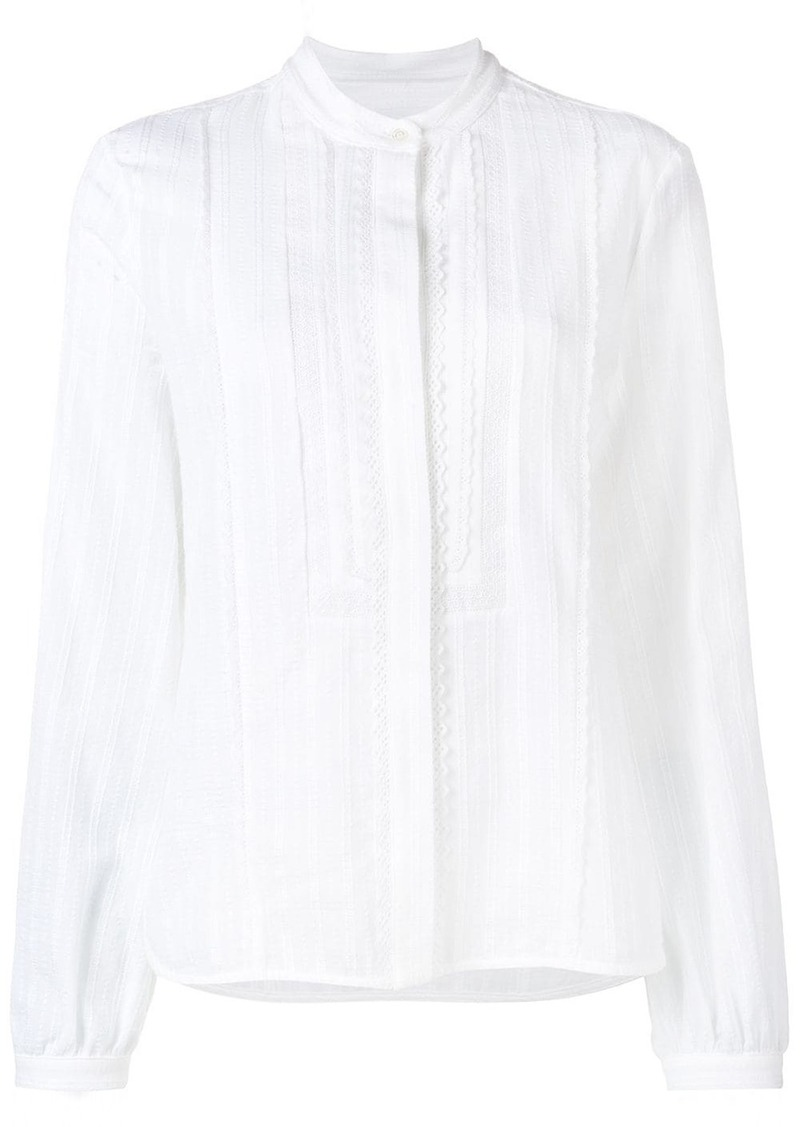 Diesel embroidered voile blouse