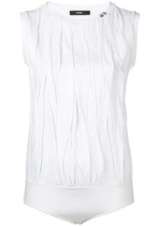 Diesel engineered crinkle T-shirt bodysuit