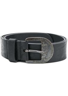 Diesel engraved antique buckle belt