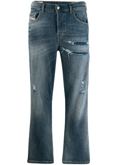 Diesel faded cropped jeans