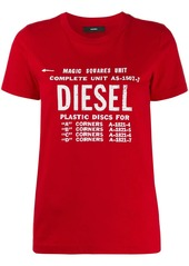 Diesel faded logo print T-shirt