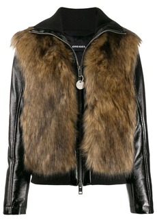 Diesel faux-fur detail jacket