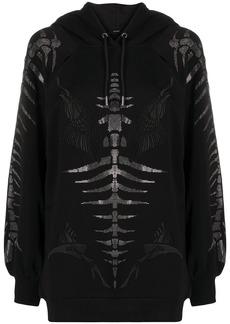 Diesel fishbone motif hoodie