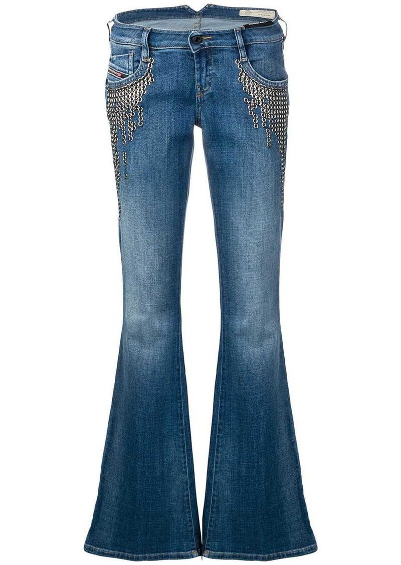 Diesel flared leg jeans