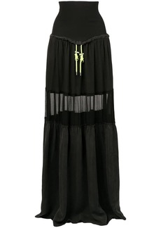Diesel flared maxi skirt