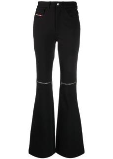 Diesel flared zip trousers