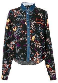 Diesel floral denim shirt