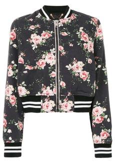 Diesel floral-print bomber jacket