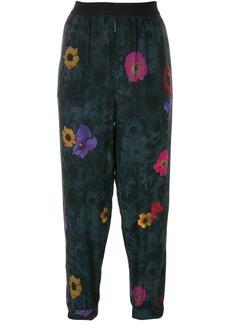 Diesel floral print cropped trousers