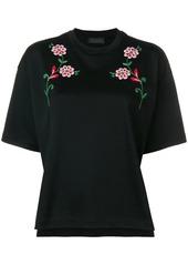 Diesel flower embroidery T-shirt