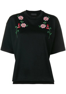 Diesel flower embroidery T-shirt