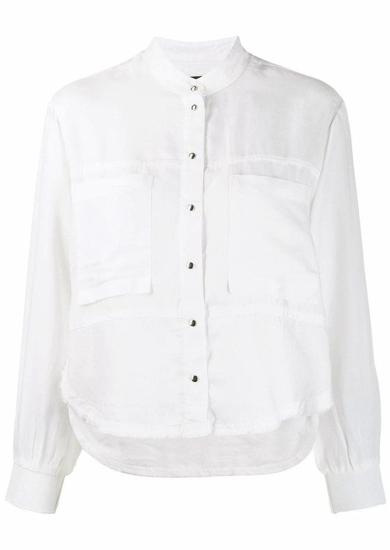 Diesel fluid shirt with knitted detail