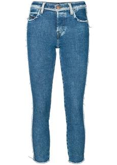 Diesel frayed detail skinny jeans