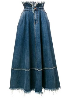 Diesel frayed edge skirt