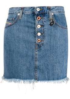 Diesel fringed denim skirt