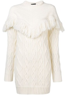 Diesel fringed knit dress