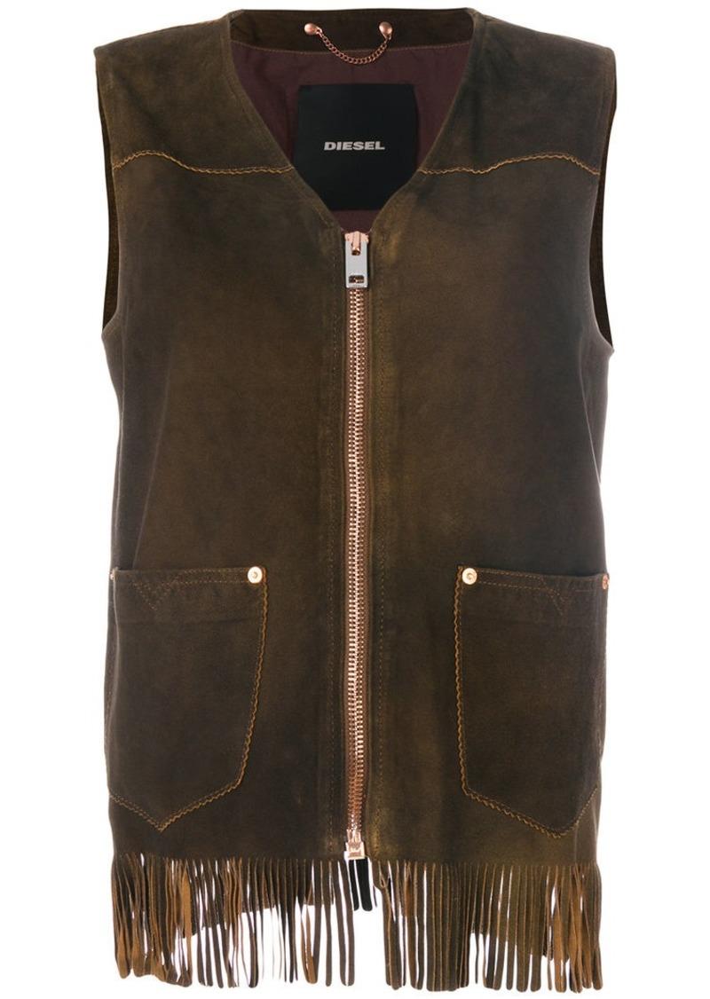 Diesel fringed vest