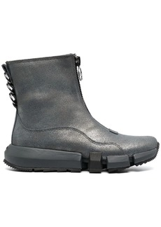 Diesel front zip ankle boots
