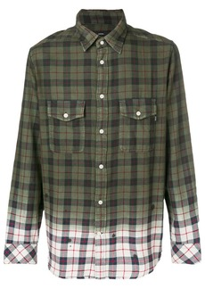 Diesel gradient checked button shirt