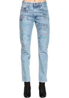 Diesel Graffiti Cotton Denim Jeans