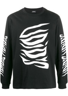 Diesel graphic long-sleeve top