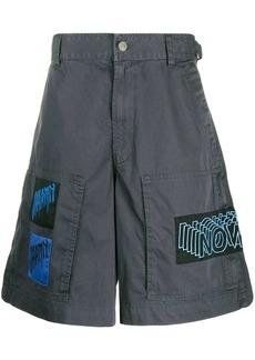 Diesel graphic patch cotton shorts