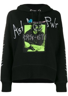 Diesel graphic patch hoodie