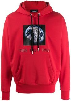 Diesel graphic print hoodie
