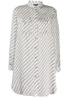 Diesel graphic-print shirt dress