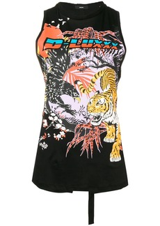 Diesel graphic print sleeveless top
