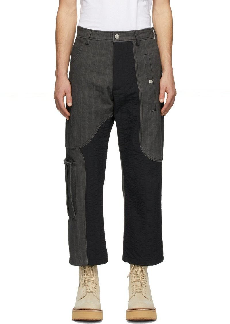 Diesel Grey & Black A-Cold-Wall* Edition T-Stain Contrast Cargo Trousers