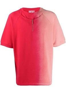 Diesel half zip gradient T-shirt