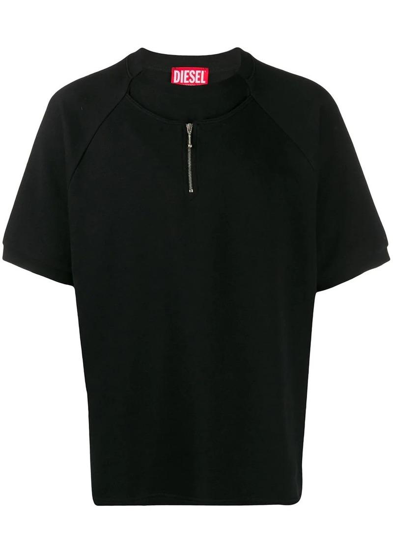 Diesel half zip T-shirt
