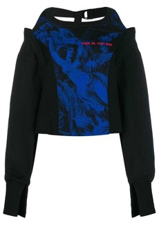 Diesel halter neck sweatshirt
