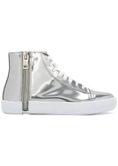 Diesel hi-top metallic sneakers