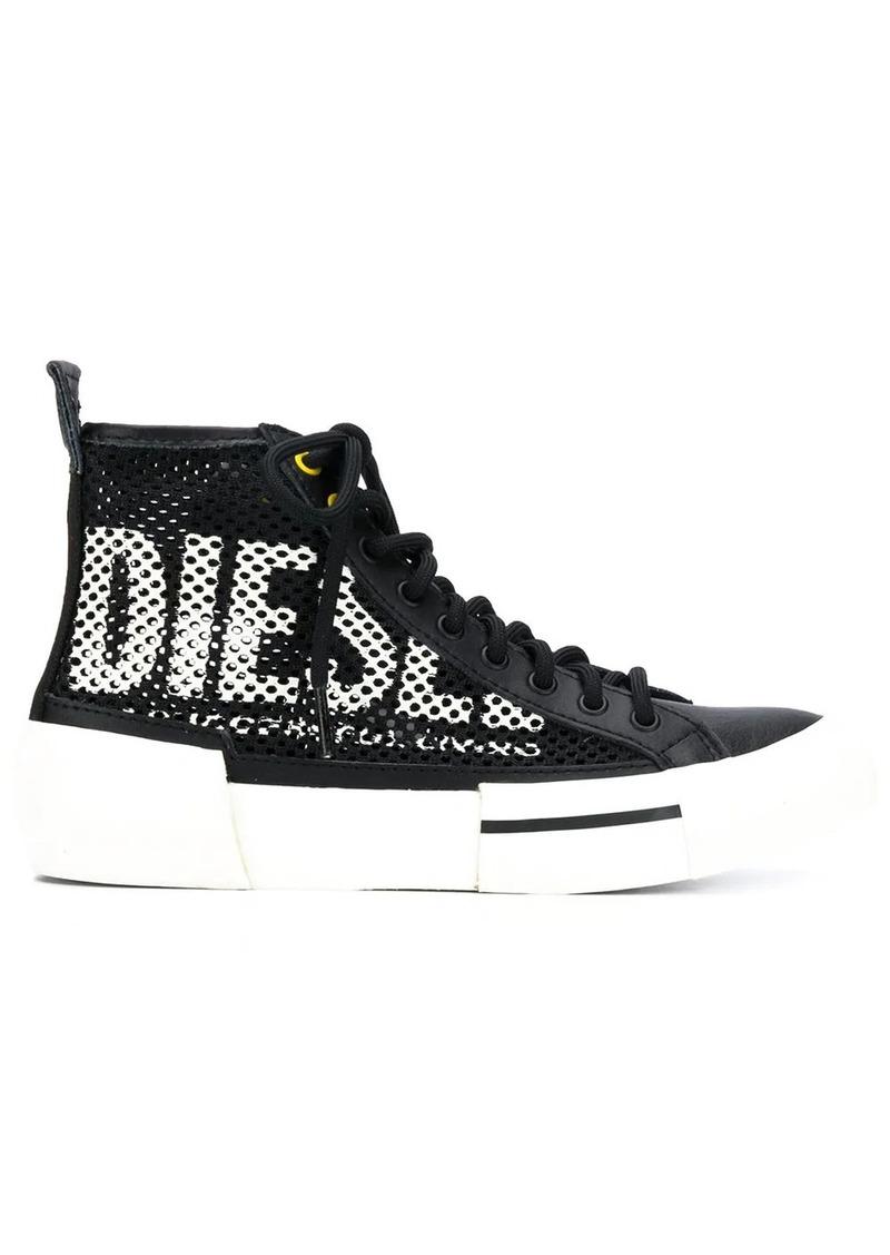 Diesel hi-top net style sneakers