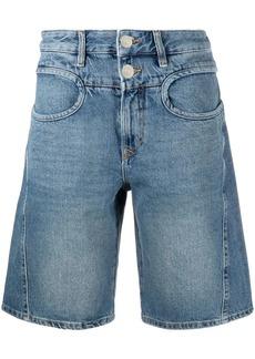 Diesel high-rise flared denim shorts