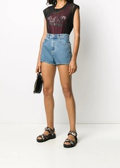 Diesel high rise straight leg shorts