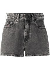Diesel high-rise washed denim shorts