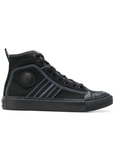 Diesel high top sneakers in bicolour cotton
