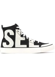 Diesel High-top sneakers in cotton canvas